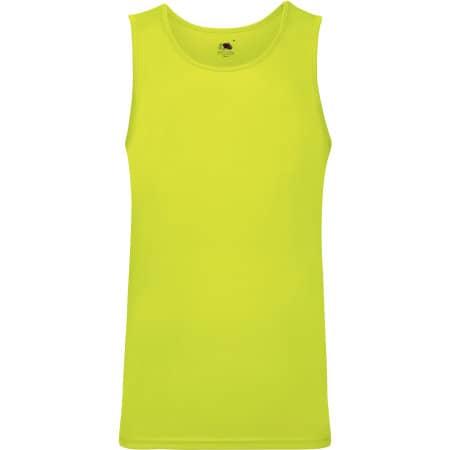 Men`s Performance Vest in Bright Yellow von Fruit of the Loom (Artnum: F552