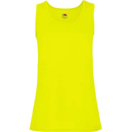 Performance Vest Lady-Fit in Bright Yellow von Fruit of the Loom (Artnum: F553
