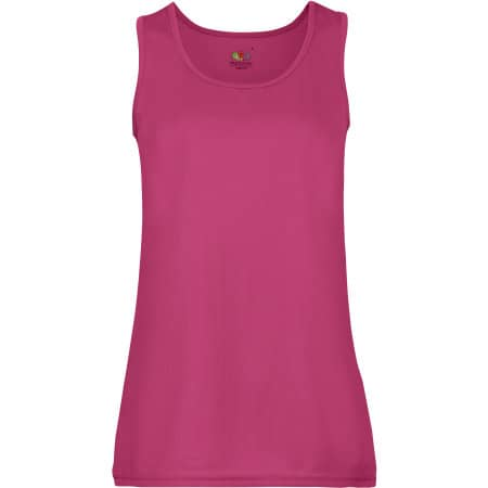 Performance Vest Lady-Fit in Fuchsia von Fruit of the Loom (Artnum: F553