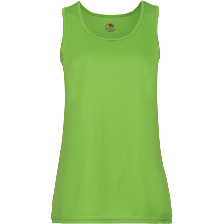 Performance Vest Lady-Fit in Lime von Fruit of the Loom (Artnum: F553