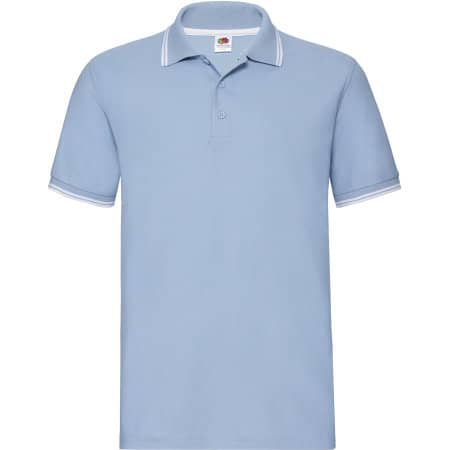 Tipped Pique Polo in Sky Blue|White von Fruit of the Loom (Artnum: F586N