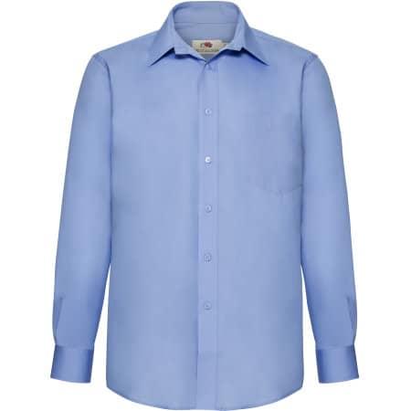 Men`s Long Sleeve Poplin Shirt von Fruit of the Loom (Artnum: F602