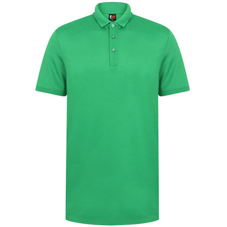 Adults` Contrast Panel Polo in Kelly Green White von Finden+Hales (Artnum: FH381