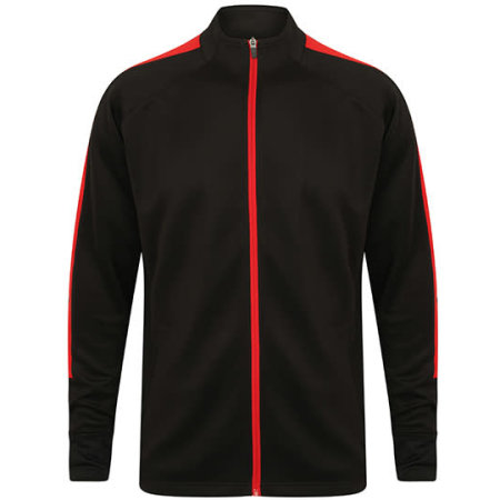 Adults Knitted Tracksuit Top in Black|Red von Finden+Hales (Artnum: FH871