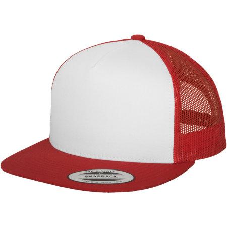 Classic Trucker 6006W in Red|White|Red von FLEXFIT (Artnum: FX6006W