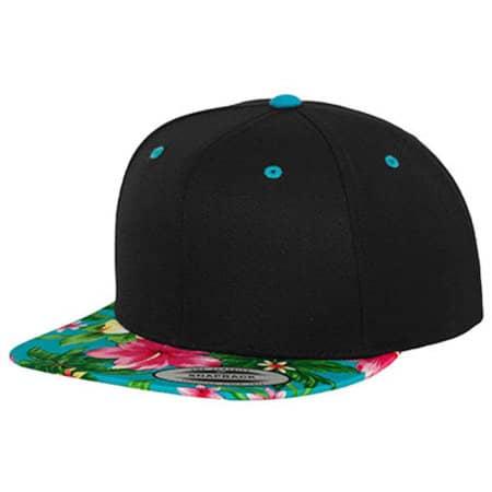 Hawaiian Snapback in Black|Aqua (Hawaiian) von FLEXFIT (Artnum: FX6089HW