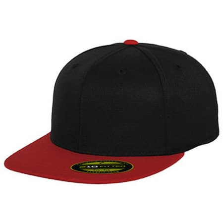 Premium 210 Fitted 2-Tone in Black|Red von FLEXFIT (Artnum: FX6210T