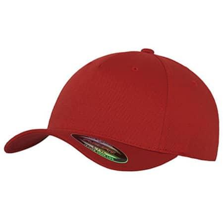 5 Panel Cap in Red von FLEXFIT (Artnum: FX6560