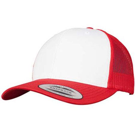 Retro Trucker Colored Front in Red|White|Red von FLEXFIT (Artnum: FX6606CF