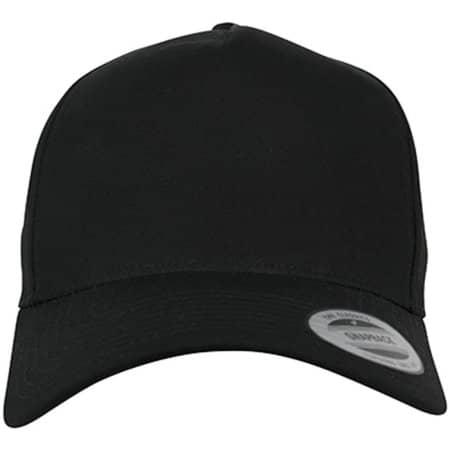 5-Panel Curved Classic Snapback in Black von FLEXFIT (Artnum: FX7707