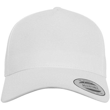5-Panel Curved Classic Snapback in White von FLEXFIT (Artnum: FX7707