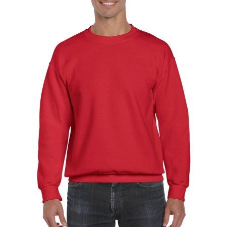 DryBlend® Crewneck Sweatshirt in Red von Gildan (Artnum: G12000