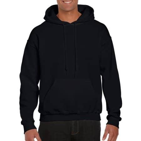 DryBlend® Hooded Sweatshirt in Black von Gildan (Artnum: G12500
