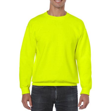 Heavy Blend™ Crewneck Sweatshirt in Safety Green von Gildan (Artnum: G18000