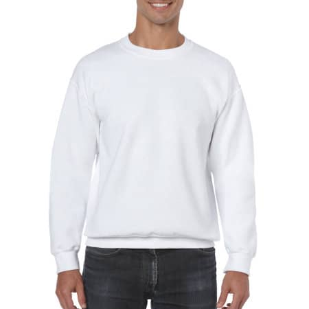 Heavy Blend™ Crewneck Sweatshirt in White von Gildan (Artnum: G18000
