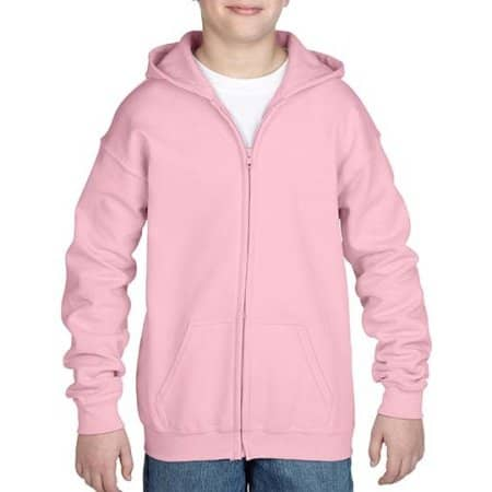 Heavy Blend™ Youth Full Zip Hooded Sweatshirt von Gildan (Artnum: G18600K