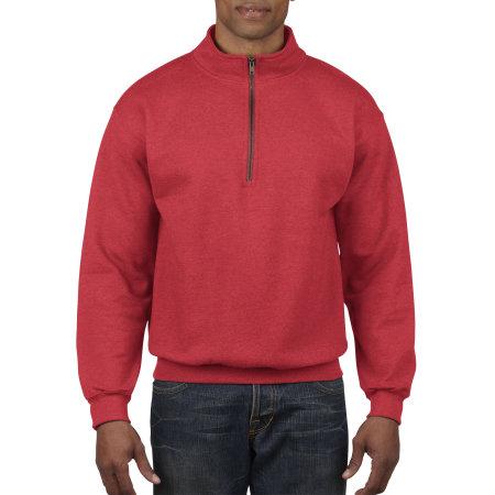 Heavy Blend™ Vintage 1/4 Zip Sweatshirt in Red von Gildan (Artnum: G18800