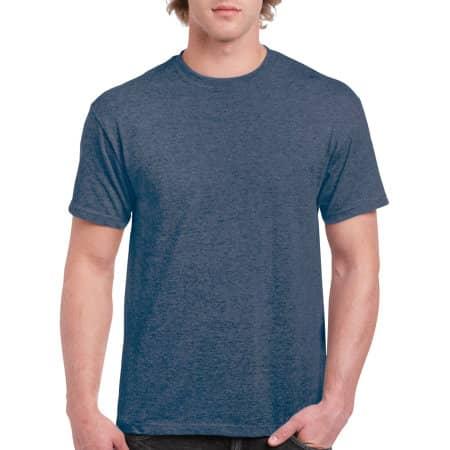 Ultra Cotton™ T-Shirt in Heather Navy von Gildan (Artnum: G2000
