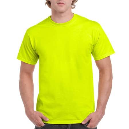 Ultra Cotton™ T-Shirt in Safety Green von Gildan (Artnum: G2000