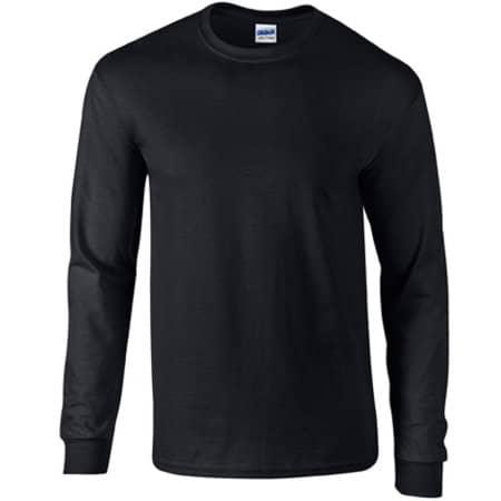 Ultra Cotton™ Long Sleeve T- Shirt in Black von Gildan (Artnum: G2400