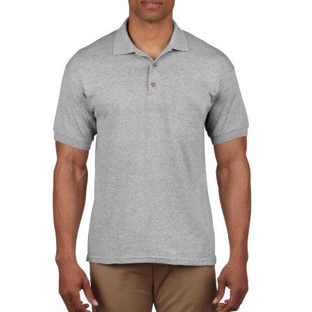 Ultra Cotton™ Piqué Polo in Sport Grey (Heather) von Gildan (Artnum: G3800