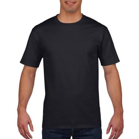 Premium Cotton® T-Shirt in Black von Gildan (Artnum: G4100