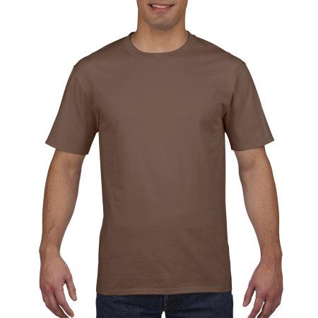 Premium Cotton® T-Shirt in Chestnut von Gildan (Artnum: G4100