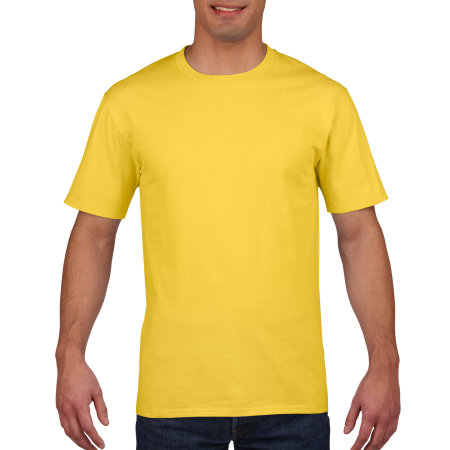 Premium Cotton® T-Shirt in Daisy von Gildan (Artnum: G4100