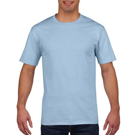 Premium Cotton® T-Shirt in Light Blue von Gildan (Artnum: G4100
