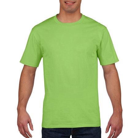 Premium Cotton® T-Shirt in Lime von Gildan (Artnum: G4100