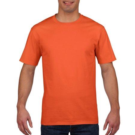 Premium Cotton® T-Shirt in Orange von Gildan (Artnum: G4100