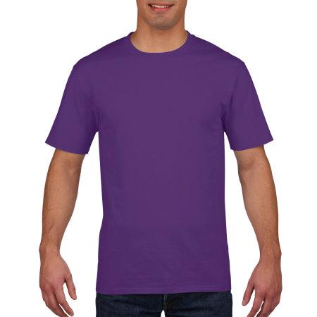 Premium Cotton® T-Shirt in Purple von Gildan (Artnum: G4100