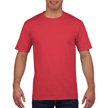 Premium Cotton® T-Shirt in Red von Gildan (Artnum: G4100