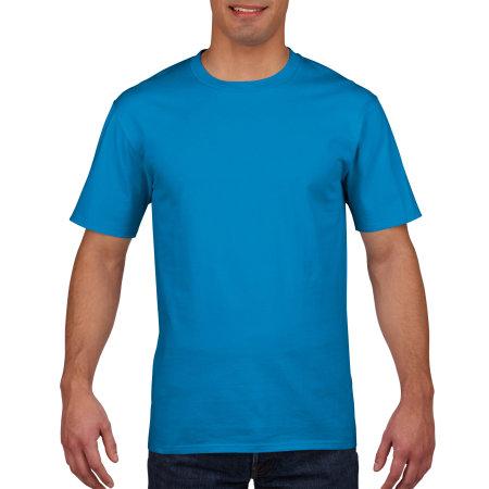 Premium Cotton® T-Shirt in Sapphire von Gildan (Artnum: G4100