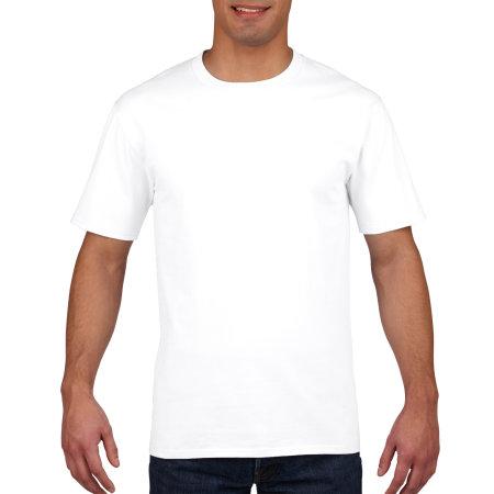 Premium Cotton® T-Shirt in White von Gildan (Artnum: G4100