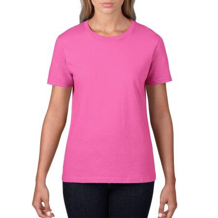 Premium Cotton® Ladies` T-Shirt in Azalea von Gildan (Artnum: G4100L