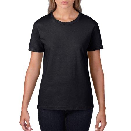 Premium Cotton® Ladies` T-Shirt in Black von Gildan (Artnum: G4100L