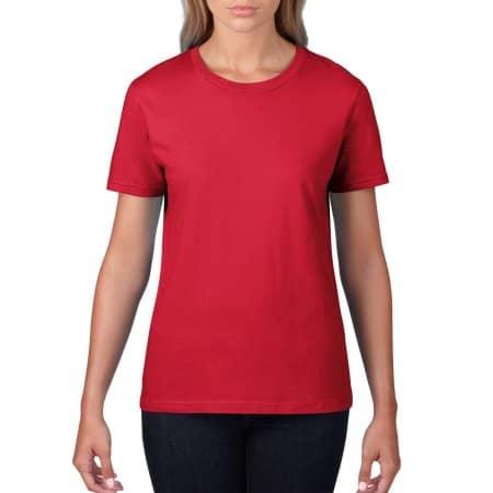 Premium Cotton® Ladies` T-Shirt in Red von Gildan (Artnum: G4100L