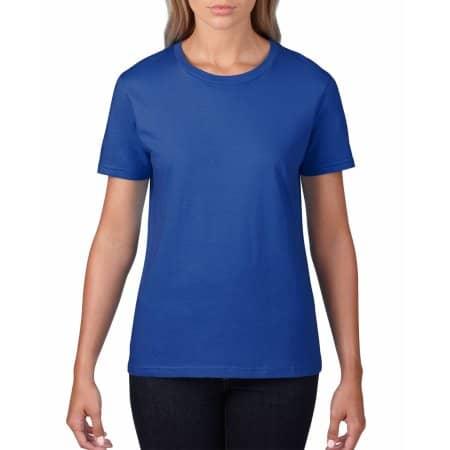 Premium Cotton® Ladies` T-Shirt in Royal von Gildan (Artnum: G4100L