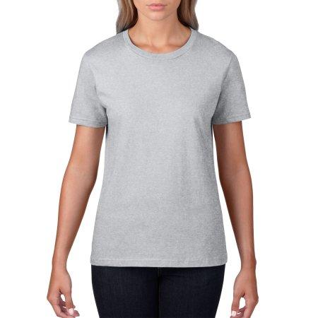 Premium Cotton® Ladies` T-Shirt in Sport Grey (Heather) von Gildan (Artnum: G4100L