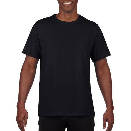 Performance® Adult T-Shirt in Black von Gildan (Artnum: G42000
