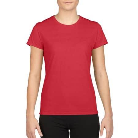 Performance® Ladies` T-Shirt in Red von Gildan (Artnum: G42000L