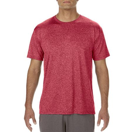 Performance® Core T-Shirt in Heather Sport Scarlet Red von Gildan (Artnum: G46000