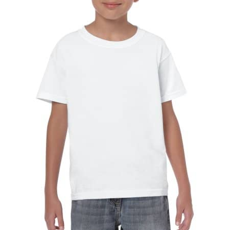 Heavy Cotton™ Youth T- Shirt in White von Gildan (Artnum: G5000K