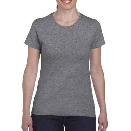 Heavy Cotton™ Ladies` T-Shirt in Graphite Heather von Gildan (Artnum: G5000L