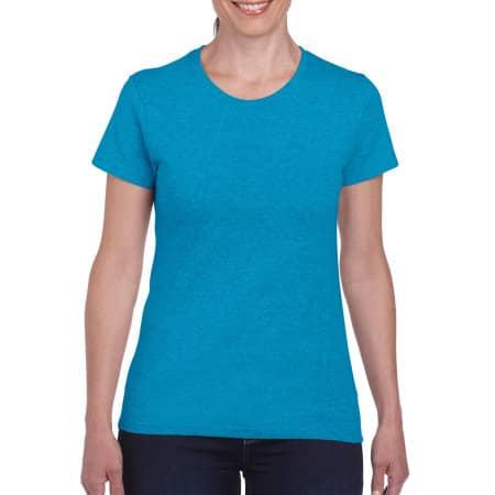 Heavy Cotton™ Ladies` T-Shirt in Heather Sapphire von Gildan (Artnum: G5000L