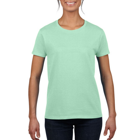 Heavy Cotton™ Ladies` T-Shirt in Mint Green von Gildan (Artnum: G5000L