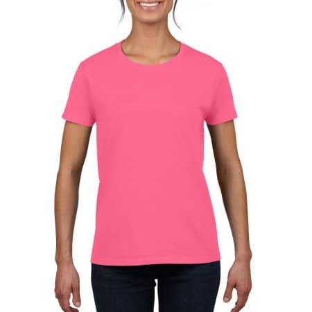 Heavy Cotton™ Ladies` T-Shirt in Safety Pink von Gildan (Artnum: G5000L