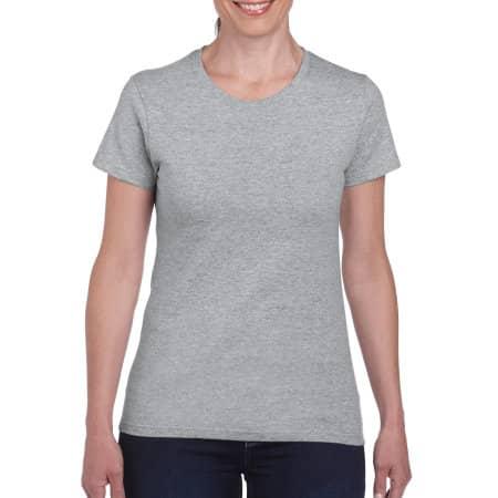 Heavy Cotton™ Ladies` T-Shirt in Sport Grey (Heather) von Gildan (Artnum: G5000L