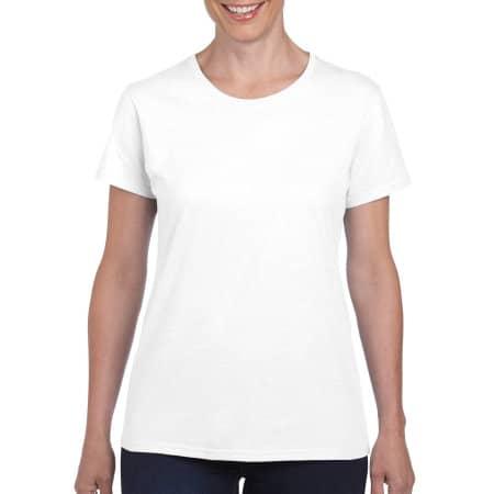 Heavy Cotton™ Ladies` T-Shirt in White von Gildan (Artnum: G5000L